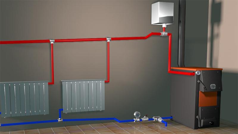 Как сделать отопление твердым топливом