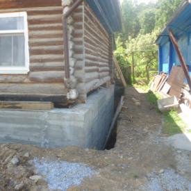 Ленточный фундамент под стоящий дом