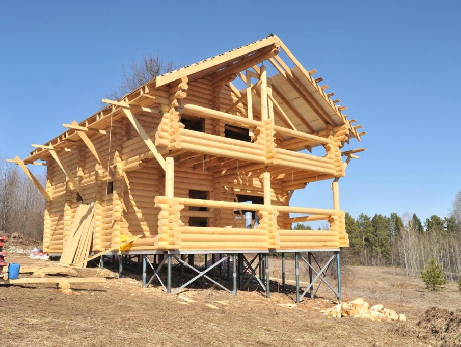 Как построить дом на сваях своими руками 322